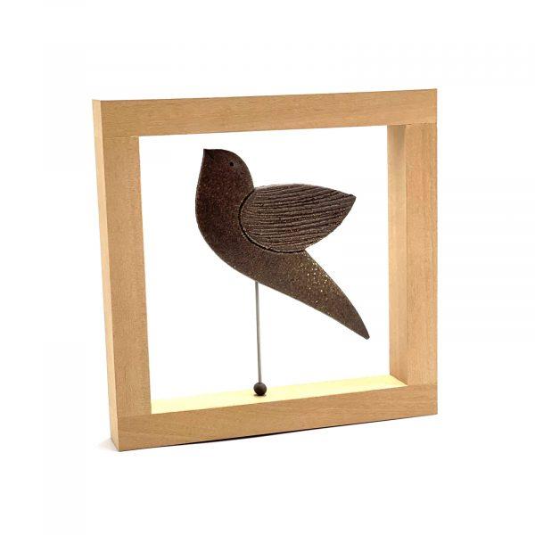 Ceramic_bird_wooden_frame