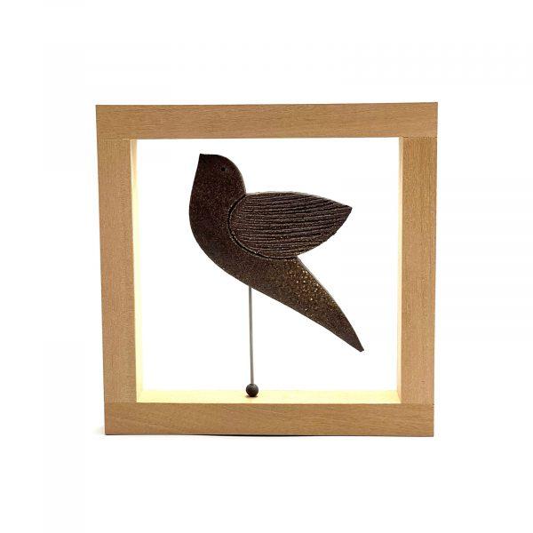 Ceramic_bird_wooden_frame_1